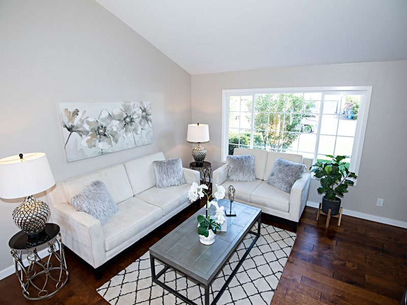 Light and bright living area
