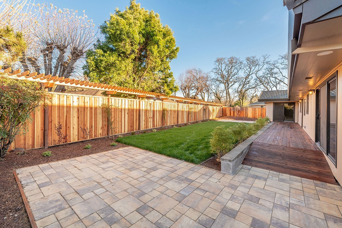 New professional landscape with patios