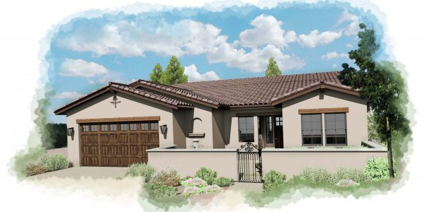 3760 Crown Hill Elevation Plan 21 Spanish