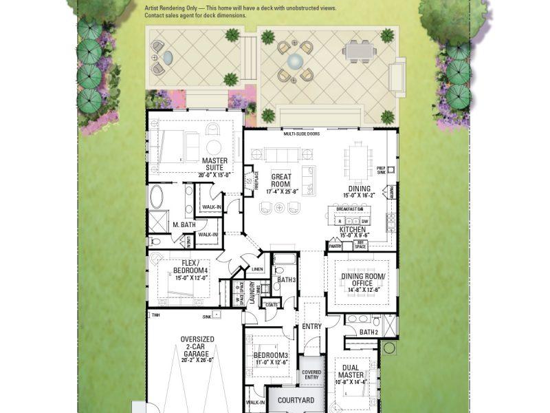 3760 Crown Hill Floor Plan