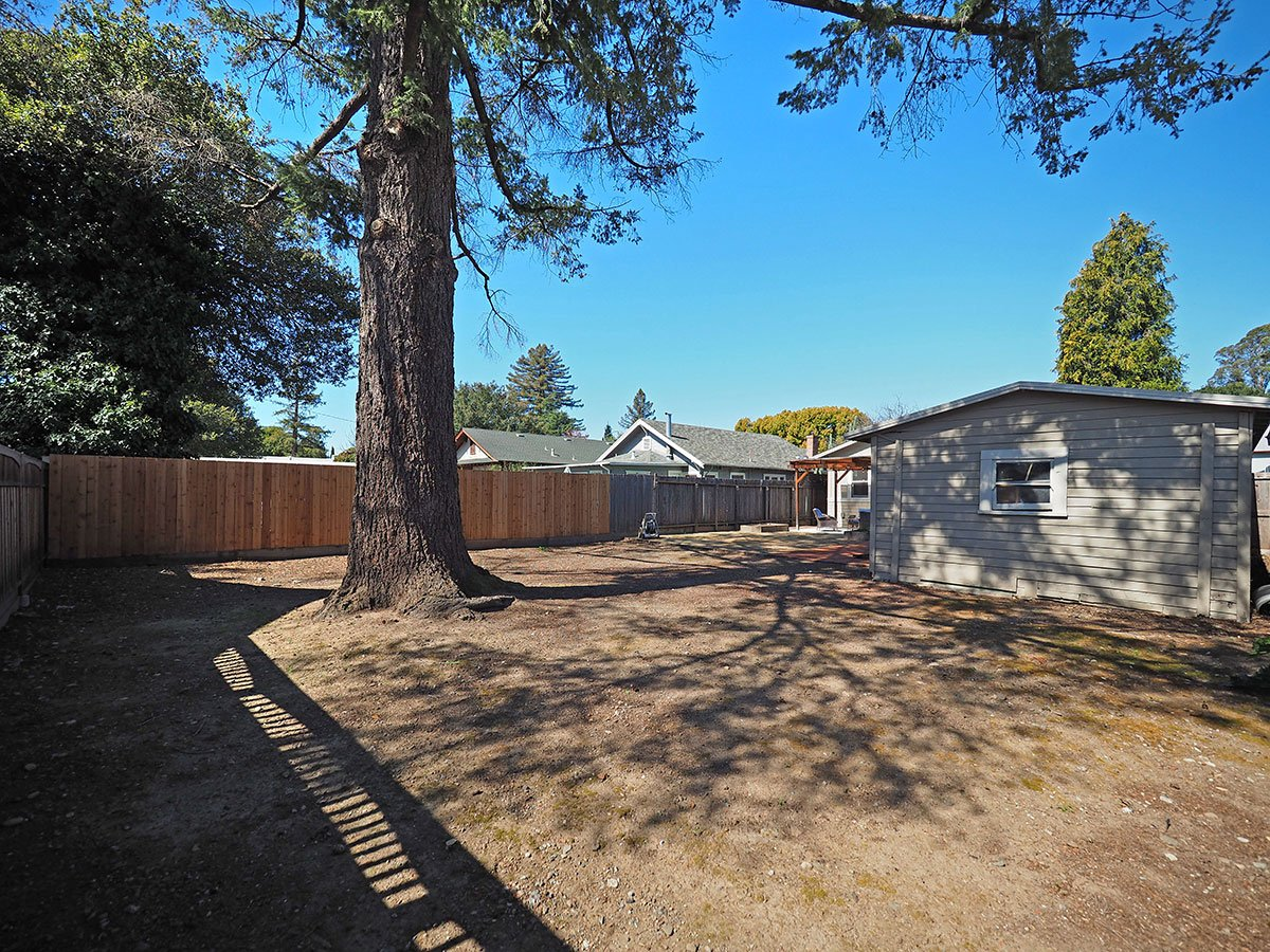876 Sonoma Avenue Back Yard View