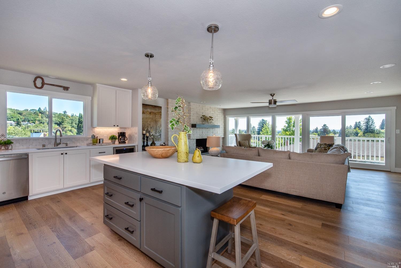 Hillside Kitchen View